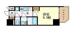 名古屋市営東山線 本山駅 徒歩2分の賃貸マンション 10階1Kの間取り