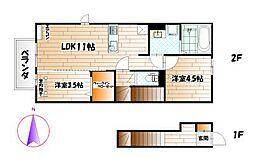 D-room泉台 A[2階]の間取り