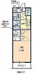 フジパレス浜寺諏訪森サウス[2階]の間取り