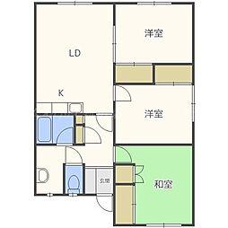 AアンドAマンション[2階]の間取り