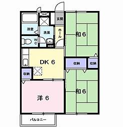 アネックス徳吉III[2階]の間取り