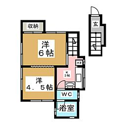 平成須藤貸家II[2階]の間取り