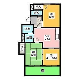 アロマアネックスII[1階]の間取り