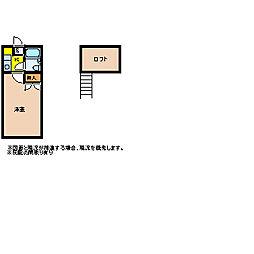 レモンハウス高坂1[A213号室]の間取り