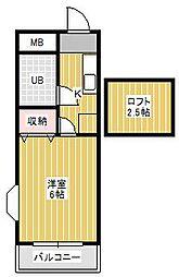 スカイメゾン新松戸[2階]の間取り