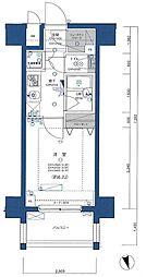 大田区6丁目楽器可(ピアノ・弦管楽器・DTM)分譲マンション 6階1Kの間取り