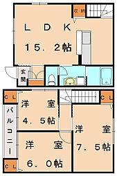 シルフィ弐番館[1階]の間取り