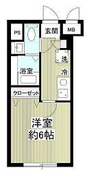 notice椎名町~ノーティス椎名町~ 2階1Kの間取り