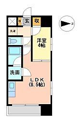 マストスタイル東別院[8階]の間取り