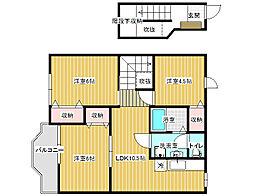 メトロノームA[2階]の間取り