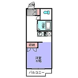 大阪府大阪狭山市半田2丁目の賃貸マンションの間取り