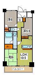 日神パレス川口[4階]の間取り