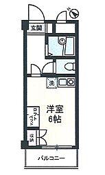 シーサイドカモシタ[208号室]の間取り