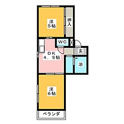 キャッスル片岡[2階]の間取り