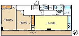 ブロードピーク 301[3階]の間取り