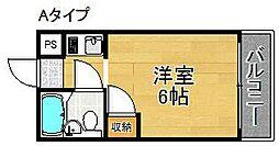 メゾン美也パートIII[4階]の間取り