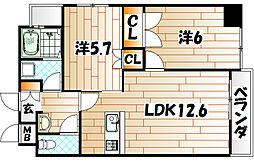 エイチエヌ石坪[4階]の間取り