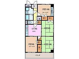 三重県桑名市中央町1丁目の賃貸マンションの間取り