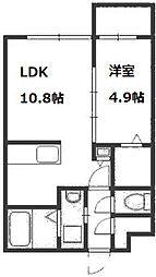 シティプラザ新札幌[3階]の間取り