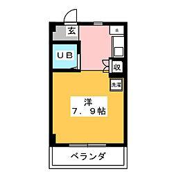 セザール一宮[5階]の間取り