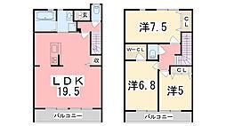 [テラスハウス] 兵庫県姫路市飾東町佐良和 の賃貸【/】の間取り