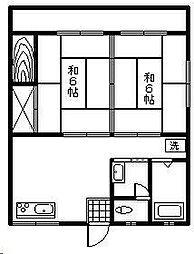 落合アパート[10号室]の間取り