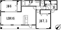 フォブール田[2階]の間取り
