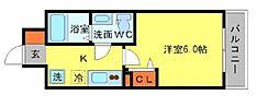 Osaka Metro堺筋線 北浜駅 徒歩5分の賃貸マンション 15階1Kの間取り