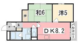 カサディフォーレ[4階]の間取り