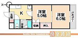 愛知県名古屋市南区中江1丁目の賃貸マンションの間取り