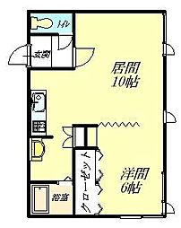 Studio flat[205号室]の間取り