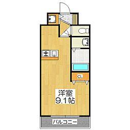 プレサンス京都三条大橋鴨川苑[209号室]の間取り