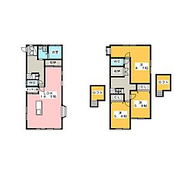 [一戸建] 静岡県浜松市中区和合北2丁目 の賃貸【静岡県 / 浜松市中区】の間取り