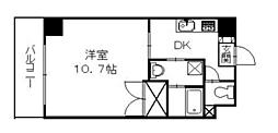 広島県広島市南区皆実町4丁目の賃貸マンションの間取り
