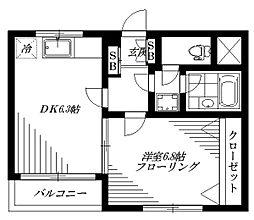 プラムコート沼袋[1階]の間取り