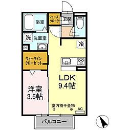 D−room尾平[202号室]の間取り