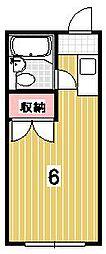 ハイツ賀茂II[313号室]の間取り