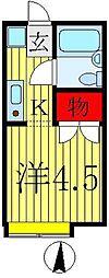 カストロ亀有[2階]の間取り