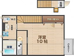 東京都中野区本町1丁目の賃貸アパートの間取り