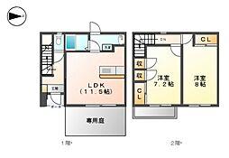 メゾンドYU[1階]の間取り