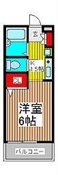 埼玉県さいたま市南区別所5丁目の賃貸アパートの間取り