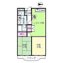 蒲田モリコーポ[5階]の間取り