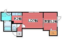 コテージヒロ[3階]の間取り