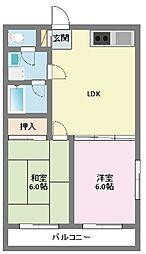 神奈川県横浜市鶴見区北寺尾4丁目の賃貸アパートの間取り