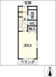 ピアチェーレTII左京山[4階]の間取り