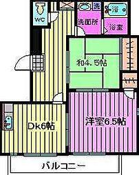 埼玉県川口市中青木1丁目の賃貸マンションの間取り