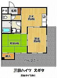 三田ハイツスギタ[5階]の間取り