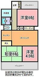 ライオンズマンション水戸新荘[206号室]の間取り