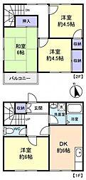 作新台メゾネット[1階]の間取り