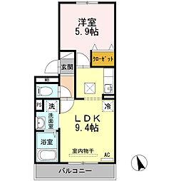 広島県呉市広古新開2丁目の賃貸アパートの間取り